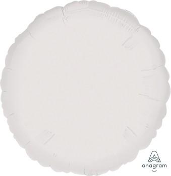"""Anagram Folienballon Rund Metallic White 70cm/27"""""""