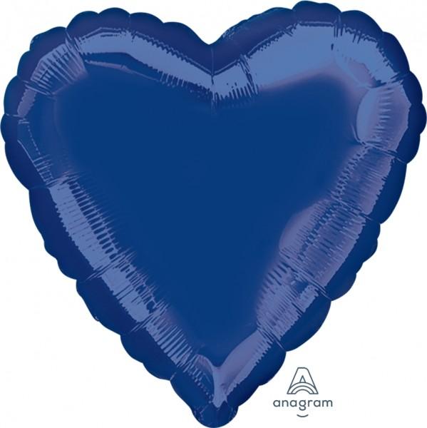 "Anagram Folienballon Herz Navy Blue 45cm/18"""