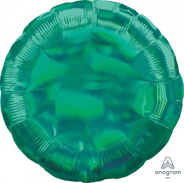 """Anagram Folienballon Rund Iridescent Grün (Green) Holographie 45cm/18"""""""