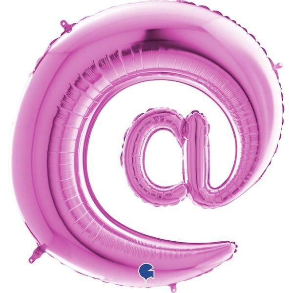 """Grabo Folienballon Pink 100cm/40"""" Zeichen @"""