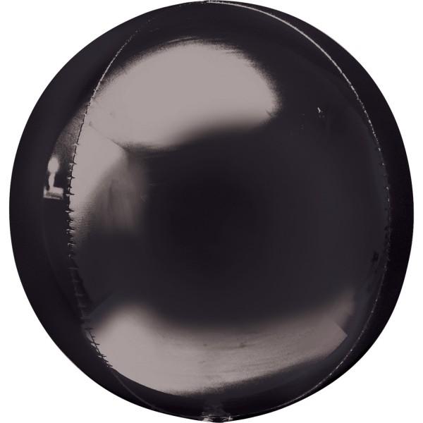 "Anagram Folienballon Orbz Schwarz (Black) 40cm/16"""