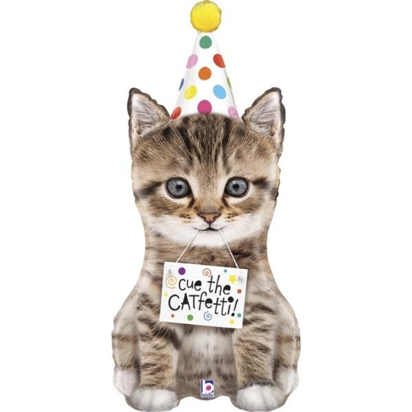 """Betallic Folienballon Cue The Confetti Cat 104cm/41"""""""