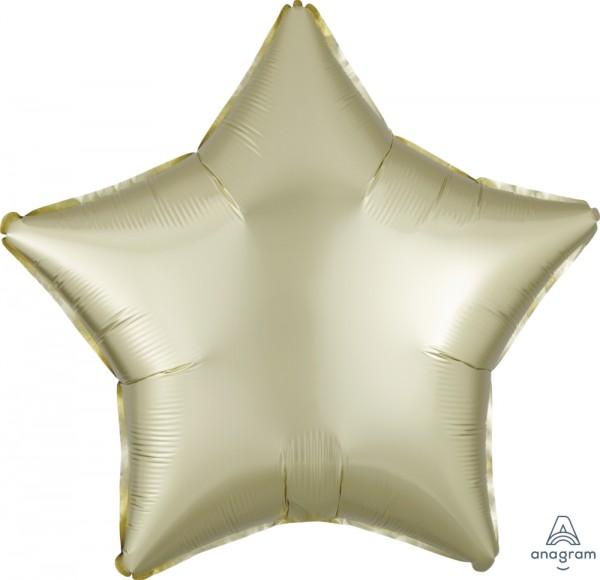 "Anagram Folienballon Stern Satin Luxe Pastell Gelb (Pastel Yellow) 50cm/20"""