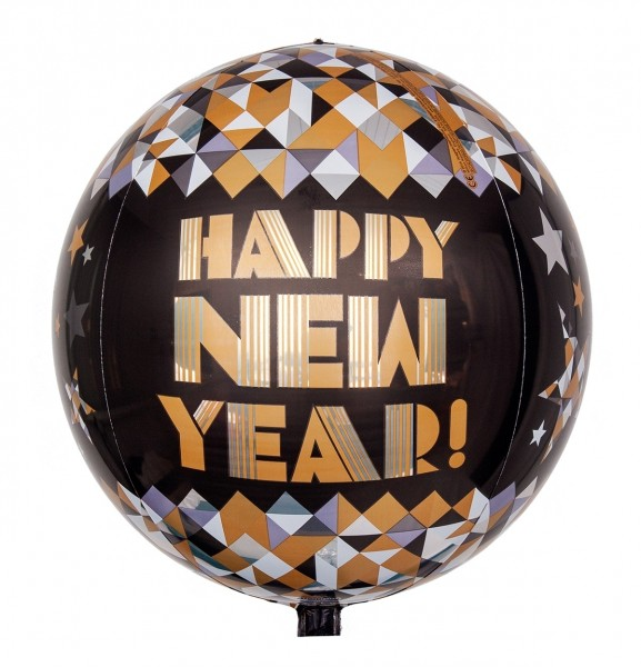 Anagram Orbz Ballon Happy New Year! Gold