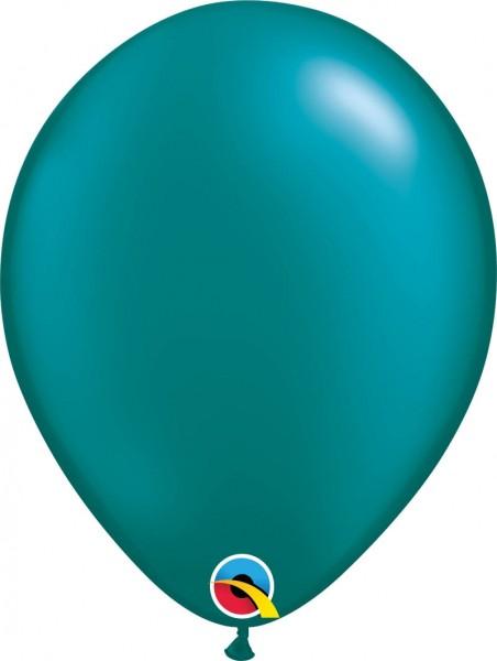 "Qualatex Latexballon Radiant Pearl Teal 28cm/11"" 100 Stück"