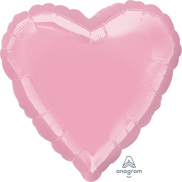 "Anagram Folienballon Herz Iridescent Pearl Pink 45cm/18"""