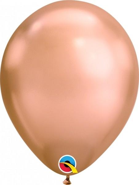 "Qualatex Latexballon Chrome Rose Gold 18cm/7"" 100 Stück"