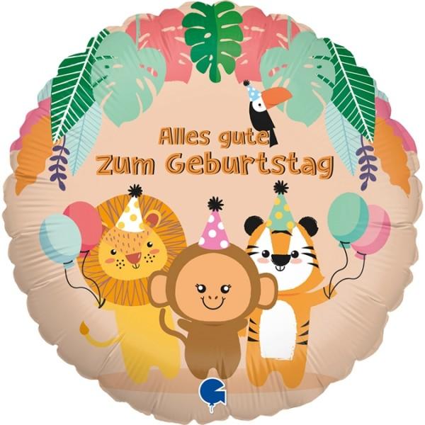 "Grabo Folienballon Tropische Tiere 45cm/18"""