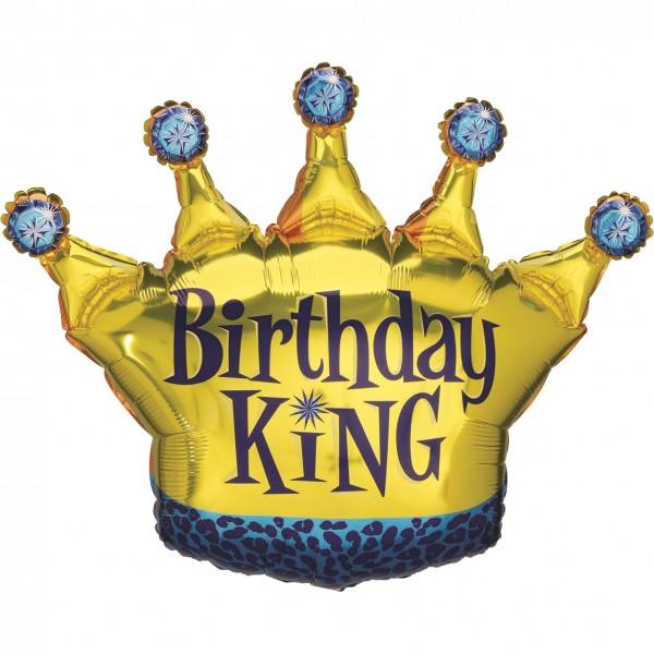 "Betallic Folienballon Birthday King 90cm/36"""