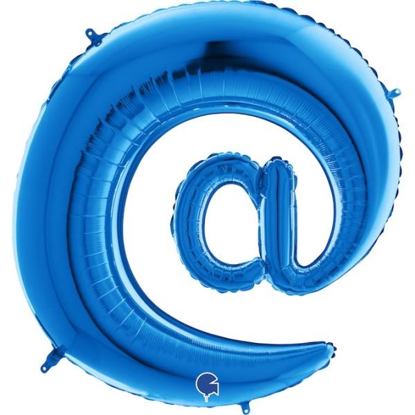 """Grabo Folienballon Blau 100cm/40"""" Zeichen @"""