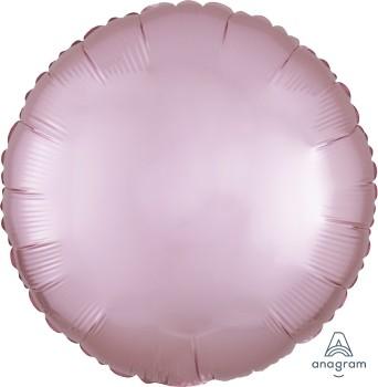 Anagram Folienballon Rund 45cm Durchmesser Satin Luxe Pastell Rosa (Pastel Pink)