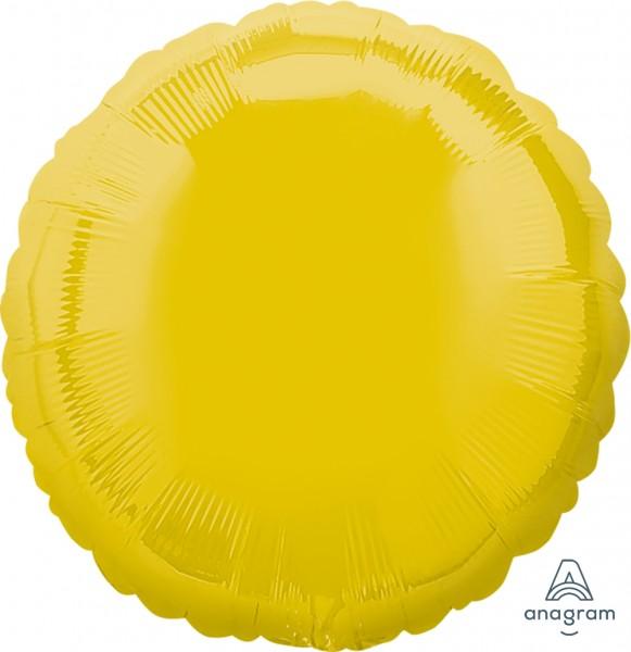 "Anagram Folienballon Rund Yellow 45cm/18"""