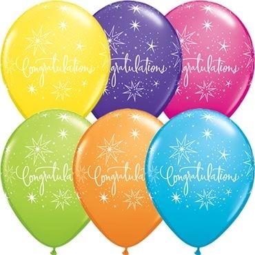 "Qualatex Latexballon Congratulations Elegant Retail Sortiment 28cm/11"" 6 Stück"