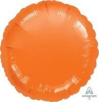 "Anagram Folienballon Rund Metallic Orange 45cm/18"""