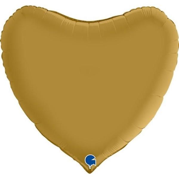 "Betallic Folienballon Herz Satin Gold 90cm/36"""