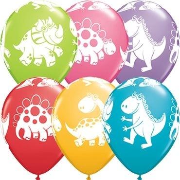 "Qualatex Latexballon Cute & Cuddly Dinosaurs Festive Sortiment 28cm/11"" 25 Stück"