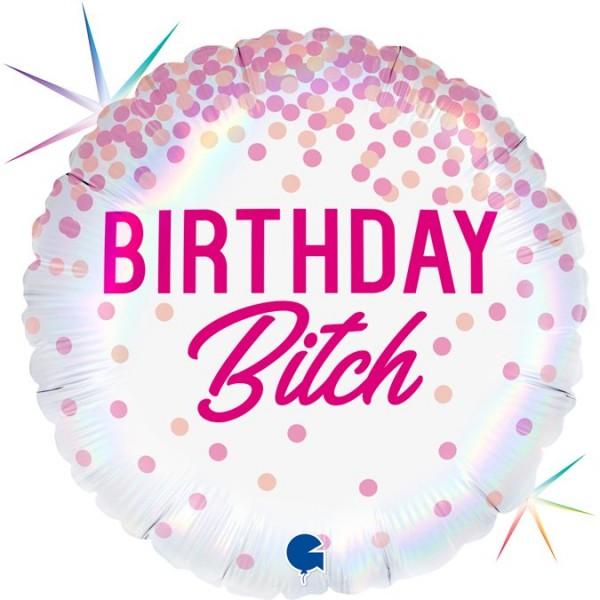 "Grabo Folienballon 45cm/18"" Birthday Bitch"