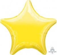 "Anagram Folienballon Stern Metallic Yellow 50cm/20"""