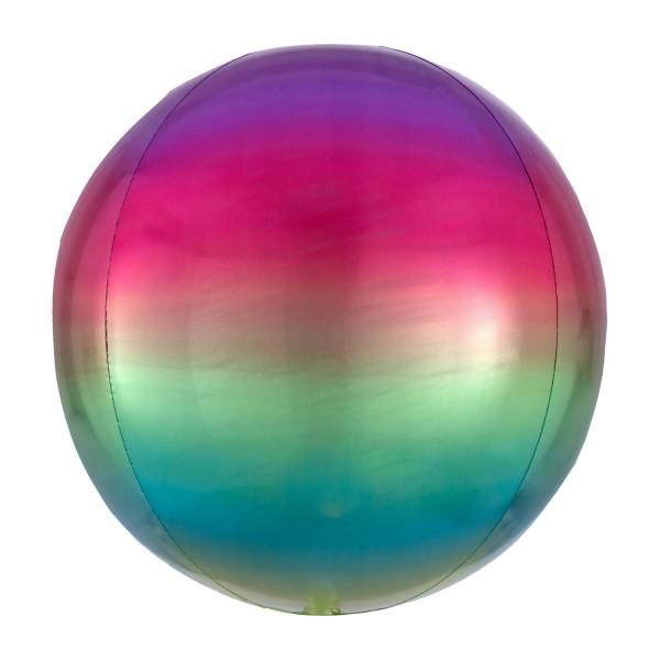 """Anagram Folienballon Orbz Ombré Rainbow 40cm/16"""""""