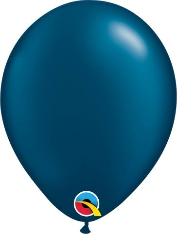 "Qualatex Latexballon Radiant Pearl Midnight Blue 13cm/5"" 100 Stück"