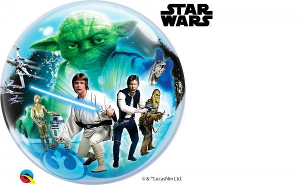 """Qualatex Bubbles Star Wars 56cm/22"""""""