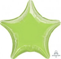"Anagram Folienballon Stern Metallic Lime Green 50cm/20"""