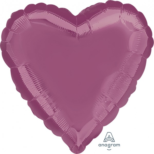 "Anagram Folienballon Herz Metallic Lavender 45cm/18"""