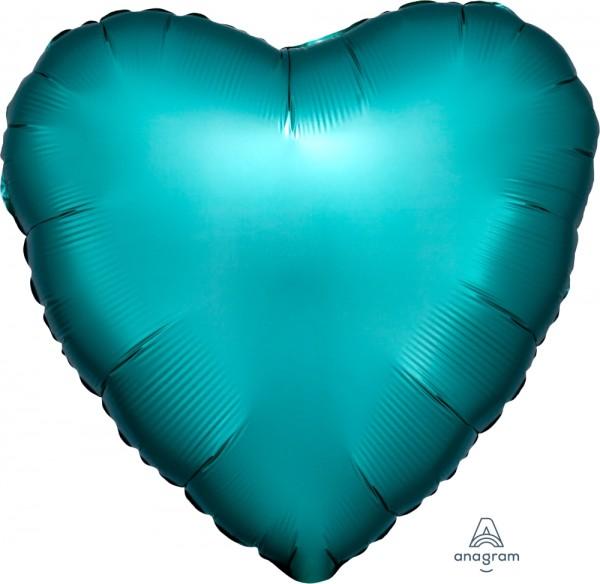 """Anagram Folienballon Herz Satin Luxe Jade 45cm/18"""""""