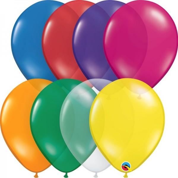 """Qualatex Latexballon Jewel Assortment 28cm/11"""" 100 Stück"""