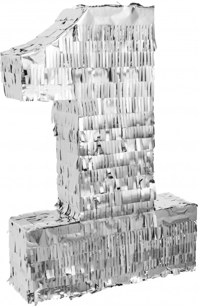 Goodtimes Pinata Zahl 1 in Silber