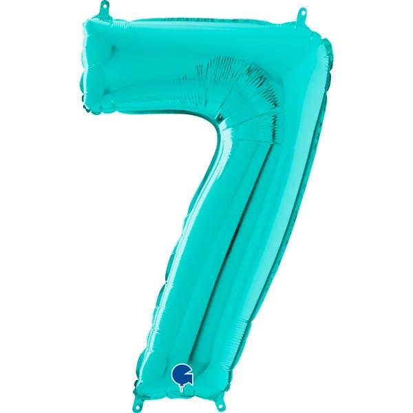 "Grabo Folienballon Zahl 7 Tiffany 66cm/26"""