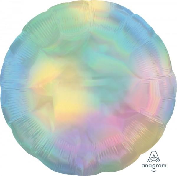 Anagram Folienballon Rund 45cm Durchmesser Iridescent Pastell Regenbogen (Pastel Rainbow) Holographie