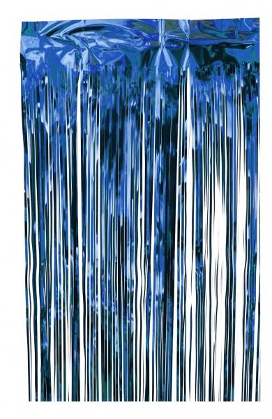 Fransengirlande blau, Stärke 50my, Höhe 60cm, Breite 10m