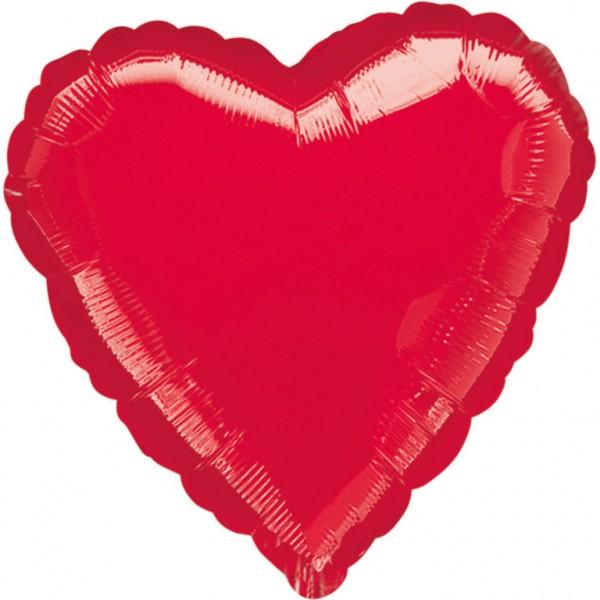 "Anagram Folienballon Jumbo Herz Metallic Red 80cm/32"""