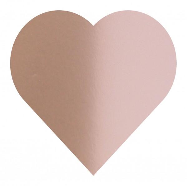 Goodtimes Folienkonfetti 3cm Herz 1kg Satin Rose Gold