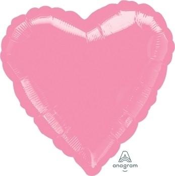 Anagram Folienballon Herz 45cm Durchmesser Metallic Rosa (Metallic Pink)