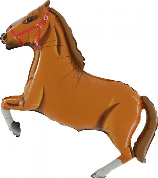 """Grabo Folienballon Horse Light Brown 90cm/36"""""""
