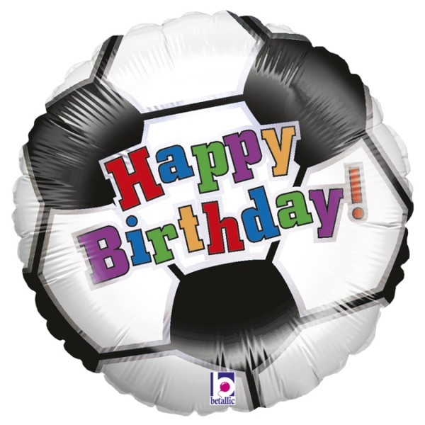 Betallic Folienballon Soccer Ball Birthday 45cm/18""