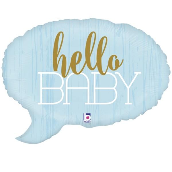 "Betallic Folienballon Hello Baby-Blue 61cm/24"""