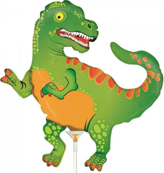 "Betallic Folienballon Dinosaur Mini 35cm/14"" luftgefüllt inkl. Stab"