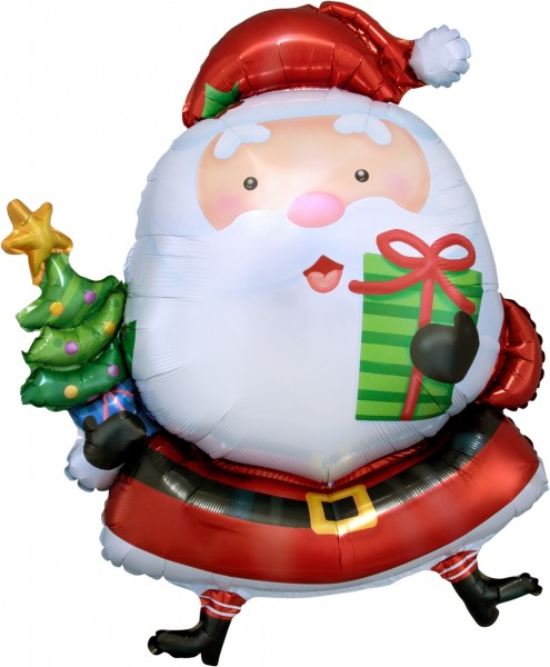 "Anagram Folienballon Santa Claus 80cm/31"""
