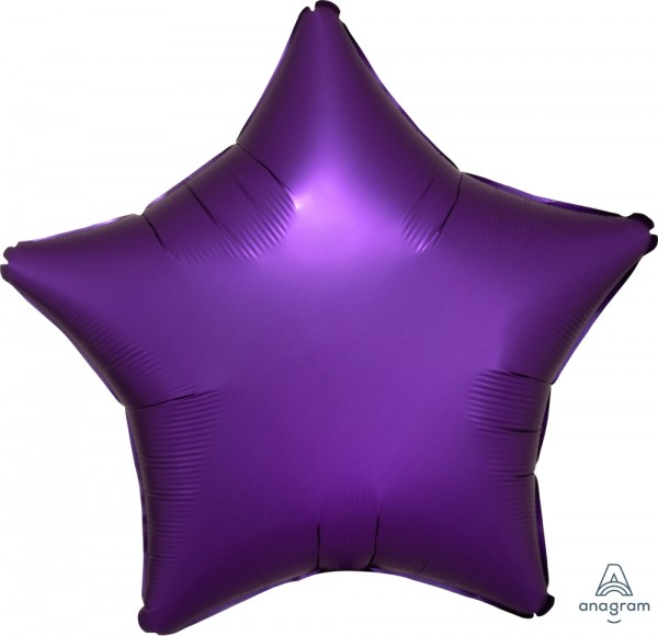 "Anagram Folienballon Stern Satin Purple Royale 50cm/20"""
