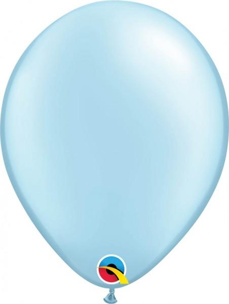 "Qualatex Latexballon Pastel Pearl Light Blue 28cm/11"" 100 Stück"