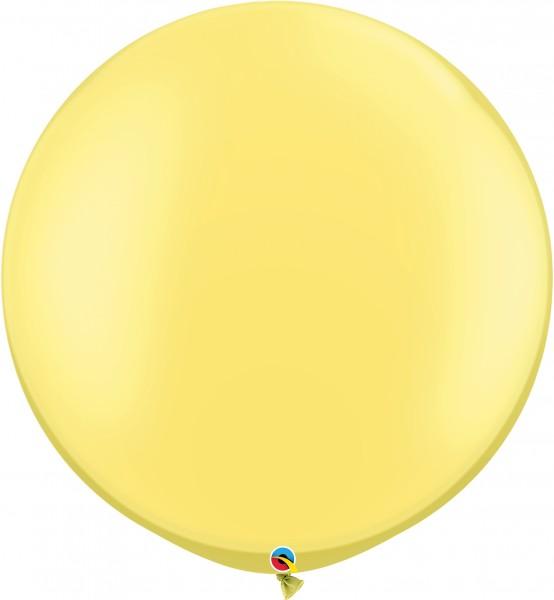 "Qualatex Latexballon Pastel Pearl Lemon Chiffon 75cm/30"" 2 Stück"