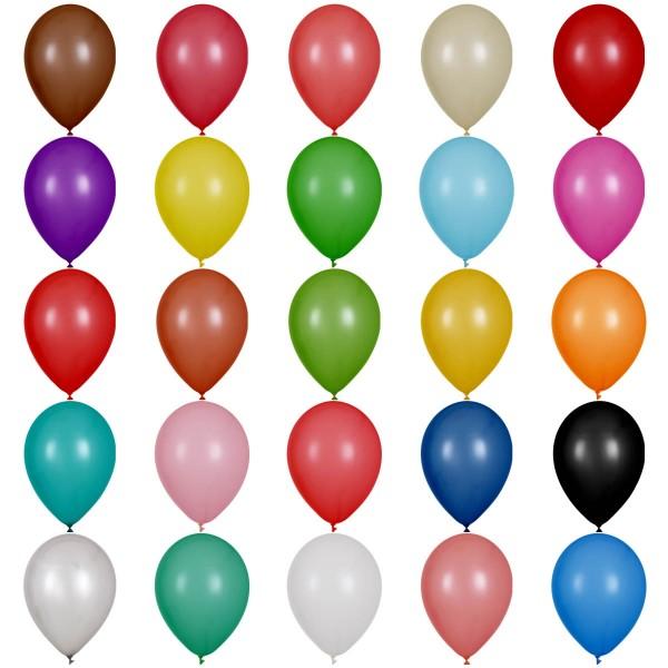 "Globos Luftballons 25 Farben Naturlatex 30cm/12"" 100er Packung"