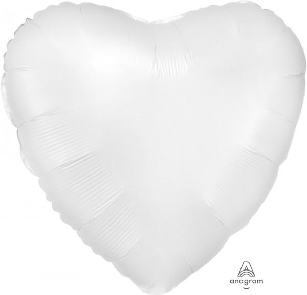 "Anagram Folienballon Herz SatinLuxe White 45cm/18"""