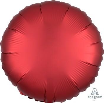 Anagram Folienballon Rund 45cm Durchmesser Satin Rot (Sangria)