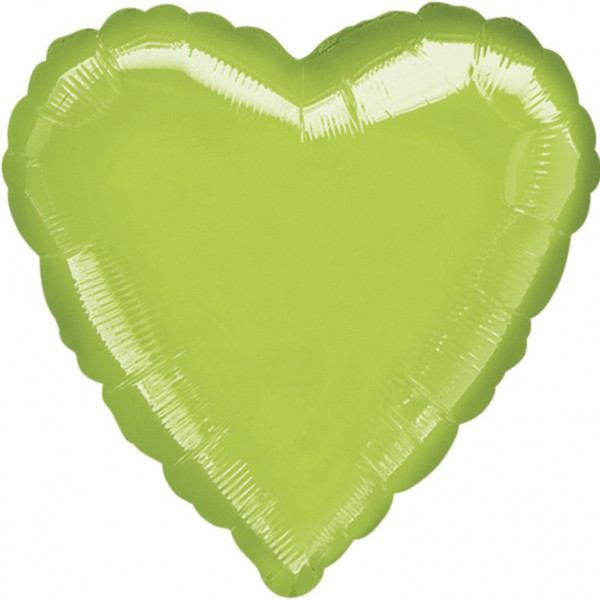 Anagram Folienballon Herz Metallic Lime Green 45cm/18""