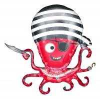 "Northstar Folienballon Pirate Octupus 35"""