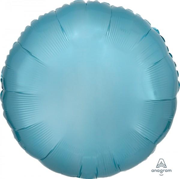 "Anagram Folienballon Rund Metallic Pearl Pastel Blue 45cm/18"""